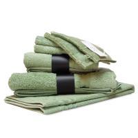 Parure de bain 7 pièces ROYAL CRESENT Vert Céladon 650 g/m2