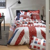 Parure de lit 140x200 cm 100% coton LONDON Union Jack