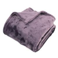Plaid polaire 130x150 cm microvelours100% Polyester 320 g/m2, VELVET Violet Prune