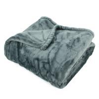Plaid polaire 150x200 cm microvelours 100% Polyester 320 g/m2 VELVET Gris Acier