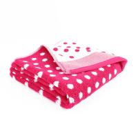 Serviette de toilette 50x100 cm GRAPHIC DOTS Rose 550 g/m2
