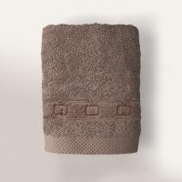Serviette de toilette 50x100 cm 100% coton 550 g/m2 PURE CADENA Marron Taupe