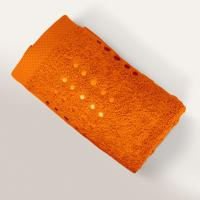 Serviette de toilette 50x100 cm 100% coton 550 g/m2 PURE POINTS Orange Butane