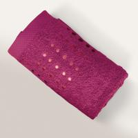 Serviette de toilette 50x100 cm 100% coton 550 g/m2 PURE POINTS Violet Prune