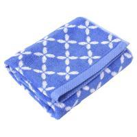 Serviette de toilette 50x100 cm SHIBORI floral Bleu 100% coton 500 g/m2