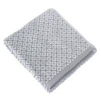Serviette de toilette 50x100 cm SHIBORI mosaic Gris 100% coton 500 g/m2