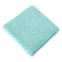 Serviette de toilette 50x100 cm SHIBORI mosaic Vert 100% coton 500 g/m2
