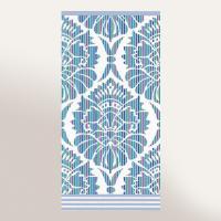 Serviette de toilette 50x100 cm 100% coton 500 g/m2 TOSCA BAROQUE Bleu
