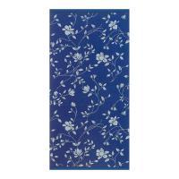 Serviette invité 33x50 cm 100% coton 480 g/m2 FLORAL Bleu