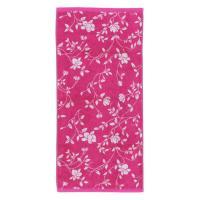 Serviette invité 33x50 cm 100% coton 480 g/m2 FLORAL Rose
