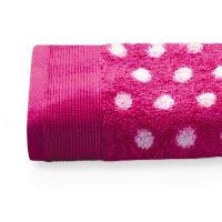 Serviette de toilette 50X100 cm DOMINO Rose 550 g/m2