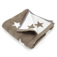 Serviette de toilette 50x100 cm 100% coton 480 g/m2 STARS Marron