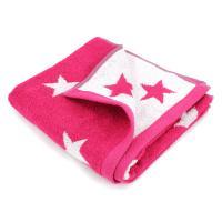 Serviette de toilette 50x100 cm 100% coton 480 g/m2 STARS Rose