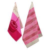 Set de 2 torchons de cuisine CAKES Rose