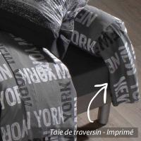 Taie de traversin 140x43 cm 100% coton NEW YORK