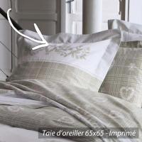 Taie d'oreiller 65x65 cm 100% coton CHARME
