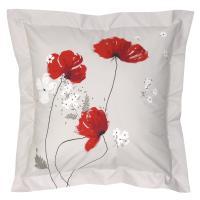Taie d'oreiller 65x65 cm Percale pur coton CYBELE FLOWERS Ecru