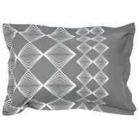 Taie d'oreiller 70x50 cm 100% coton FOREVER GRIS gris foncé
