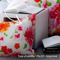 Taie d'oreiller 70x50 cm 100% coton NINA FLOWER * DESTOCKAGE *