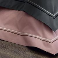 Taie d'oreiller 40x40 cm uni Percale pur coton HOTEL DE PARIS Quartz