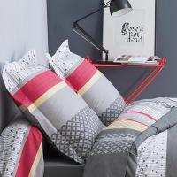 Taie d'oreiller 65x65 cm Percale pur coton ANDREW ANTHRACITE