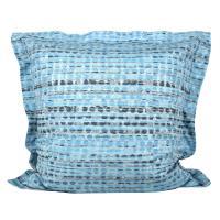 Taie d'oreiller 65x65 cm Satin de coton LOUVRE Bleu clair