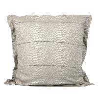 Taie d'oreiller 65x65 cm Satin de coton ODEON Marron clair
