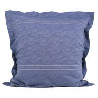 Taie d'oreiller 65x65 cm Satin de coton VENDOME Bleu foncé