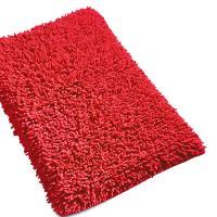 Tapis de bain 50x80 cm CHENILLE Rouge 1800 g/m2