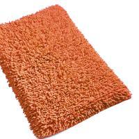 Tapis de bain 50x80 cm CHENILLE Orange Terracotta 1800 g/m2