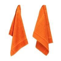 Lot de 2 torchons de cuisine 50x50 cm éponge PURE KITCHEN TERRY - Orange