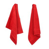 Lot de 2 torchons de cuisine 50x50 cm éponge PURE KITCHEN TERRY - Rouge