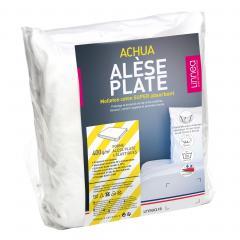 Alèse plate 160x190 cm ACHUA  - Molleton 100% coton 400 g/m2 , matelas 15cm à 23cm