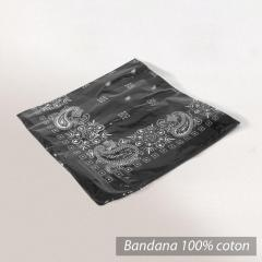 Bandana 55x55 cm Bolsa Noir