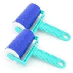 Lot de 2 brosses adhésives bleu lavable et réutilisable anti poils et poussière
