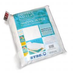 Protège matelas absorbant Antonin - blanc - 2x80x200 Spécial lit articulé - TPR - Grand bonnet 30cm