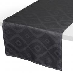 Chemin de table 45x150 cm Jacquard 100% polyester BRUNCH anthracite