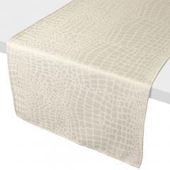 Chemin de table 45x150 cm Jacquard 100% polyester LOUNGE ecru