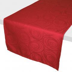 Chemin de table 45x150 cm Jacquard 100% coton SPIRALE rouge