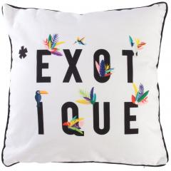 Coussin 40x40 cm EXOTIC Blanc