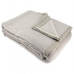 Couverture 240x300 cm laine Lambswool 280 g/m² ADELAIDE Marron Galet