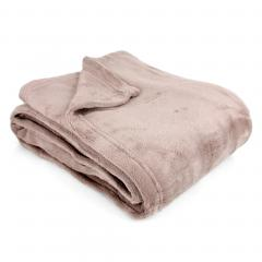 Couverture polaire 220x240 cm Microfibre 280 g/m2 APOLLO Marron Beige