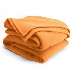 Couverture polaire 180x220cm Isba, Miel - 100% Polyester 320 g/m2, traité non-feu