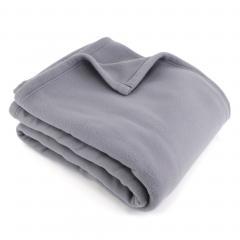 Couverture polaire180x220cm 100% Polyester 350 g/m2 TEDDY Gris Acier