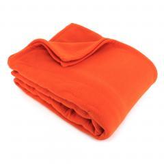 Couverture polaire240x260cm Teddy, Ambre - 100% Polyester 350 g/m2, traité non-feu