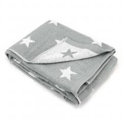 Drap de bain 100x150 cm 100% coton 480 g/m2 STARS Gris