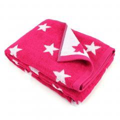 Drap de bain 100x150 cm 100% coton 480 g/m2 STARS Rose