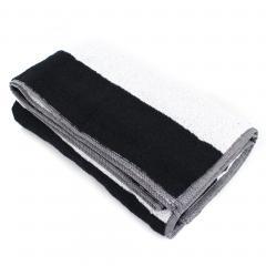 Drap de bain 100x150 cm MONA rayure blanc & noir 100% coton 480 g/m2