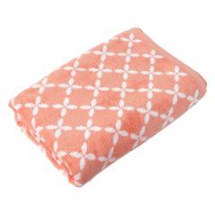 Drap de bain 100x150 cm SHIBORI floral Orange 100% coton 500 g/m2