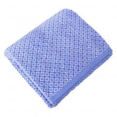 Drap de bain 100x150 cm SHIBORI mosaic Bleu 100% coton 500 g/m2